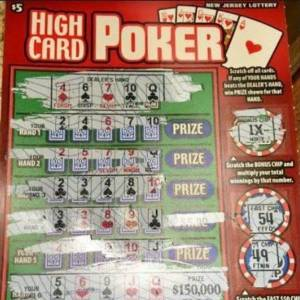 NJ Lottery High Card Poker Game Scrapped