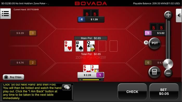 Bovada mobile poker download