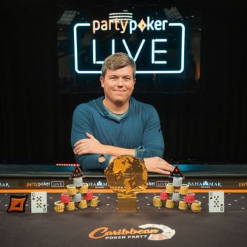 Roger Teska Celebrating partypoker MILLIONS World Win
