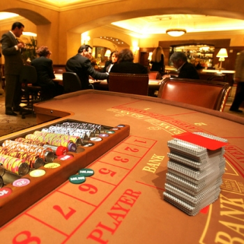 Empty Baccarat Table in Las Vegas
